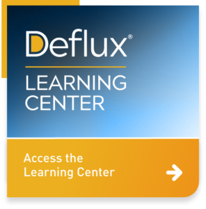 Button: access the Deflux Learning Center
