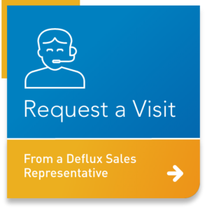 Button: request a visit from a Deflux sales representative